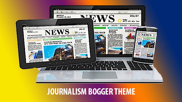 Journalism Online Premium Blogger Theme Original - Responsive Blogger Template