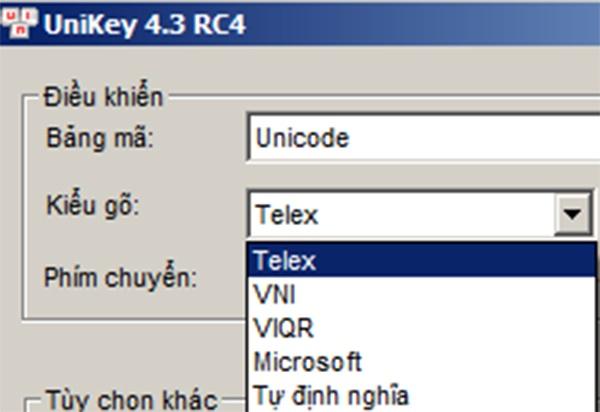 Tải Unikey mới nhất - Download Unikey 4.3 RC4 miễn phí về máy tính f