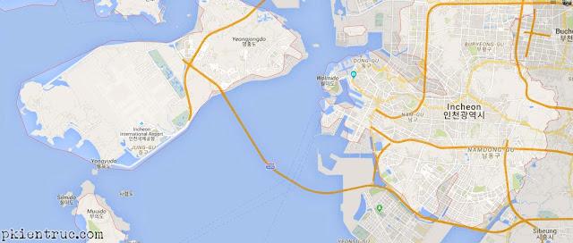 Bản đồ tổng thể thành phố Incheon