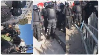 (بالفيديو) خطير ما يحصل الان امام البرلمان... اشتباكات الآن بين الأمن و المحتجين