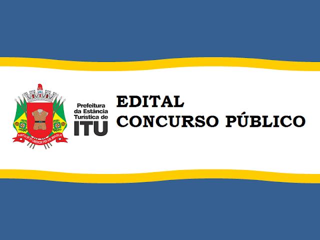 Concurso Prefeitura de Itu / SP - 2019