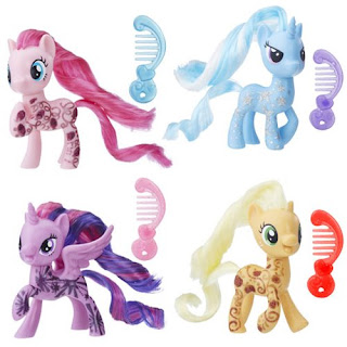My Little Pony New Brushables of Applejack, Pinkie Pie, Trixie and Twilight Sparkle
