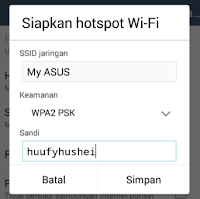 Cara Setting Hp Android Menjadi Hotspot Wifi Tethering