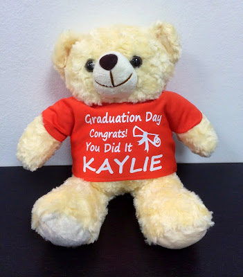 Personalized Teddy Bears @ $32.90 each. Printed with your name