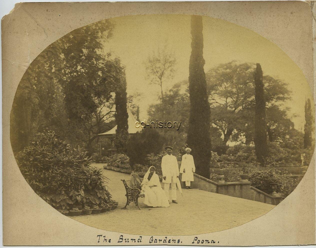 The Bund Gardens in Poona (Pune), Maharashtra - c1880's