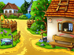 cartoon cartoons wallpapers village animated 3d nature strictly collection labels