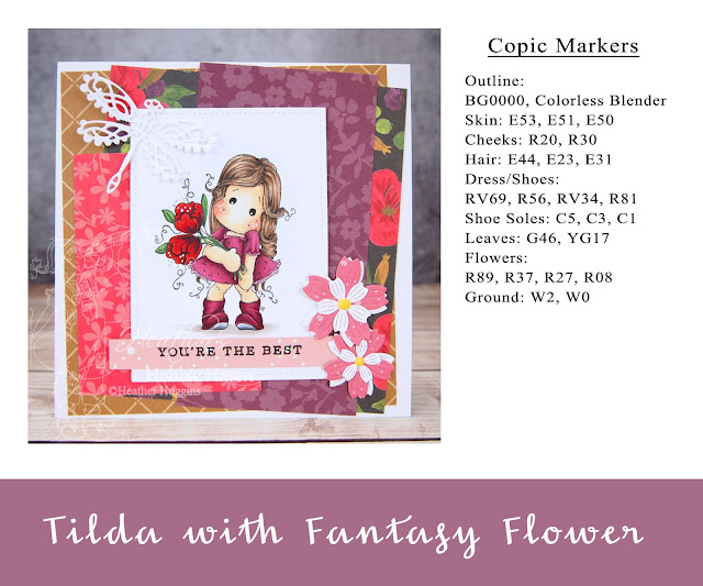 Heather's Hobbie Haven - Tilda with Fantasy Flower Card Kit