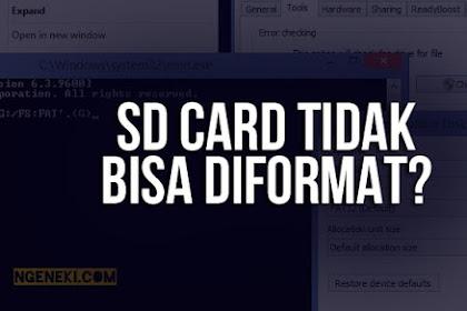 Cara Mengatasi SD Card Tidak Bisa Diformat dengan Laptop atau Komputer