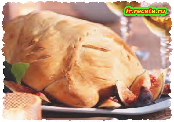 Poularde en coque de pain