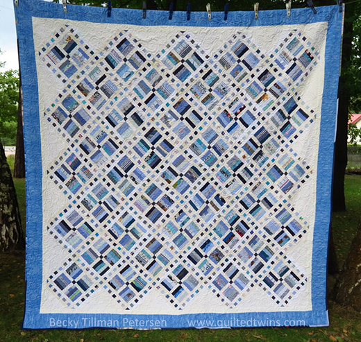 Sticks and Stones Quilt Designed by Becky Tillman of Quilted Twins