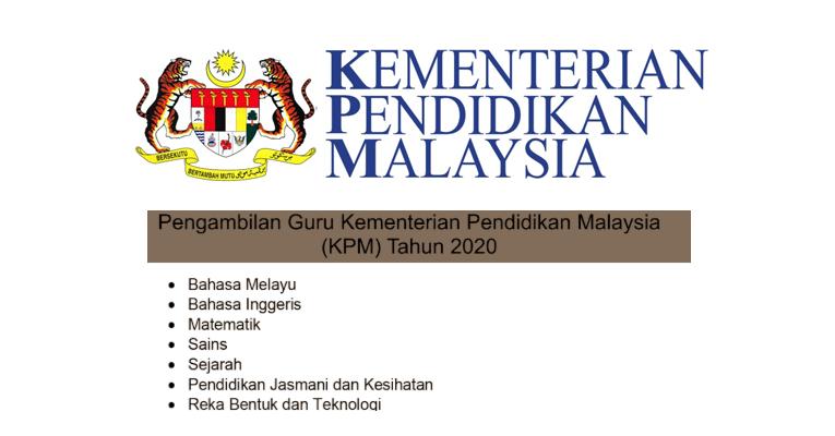 Jawatan Kosong di Kementerian Pendidikan Malaysia KPM 2019/2020