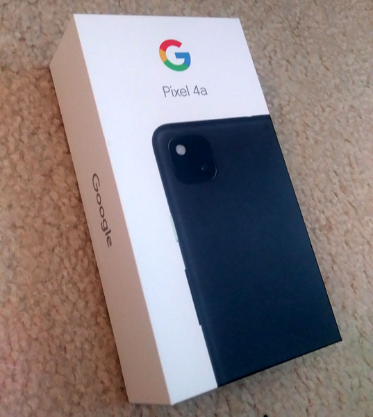Moments before I removed my new Google Pixel 4a smartphone from its box...on June 1, 2021.