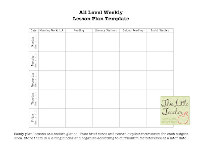 Weekly Lesson Planner Template multi period pdf weekly lesson – Weekly Lesson Plan Template Word Document