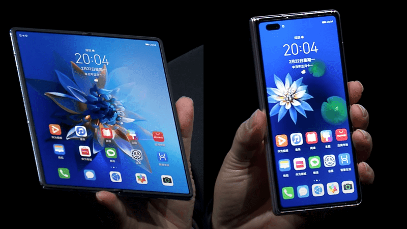 Huawei launches gapless Mate X2 foldable 5G phone with top-end specs! Upgradable to HarmonyOS!