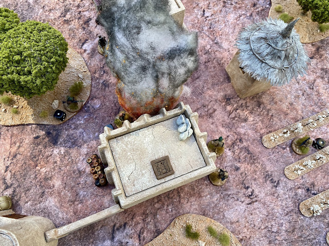 Spectre Operations 28mm miniatures game: French Foreign Legion rescues reporters being held hostage by Islamist insurgents