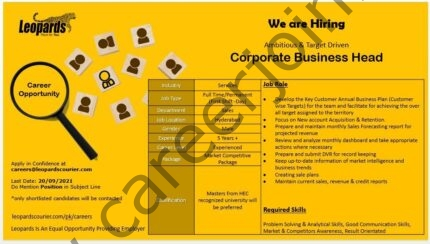 Jobs in Leopards Courier