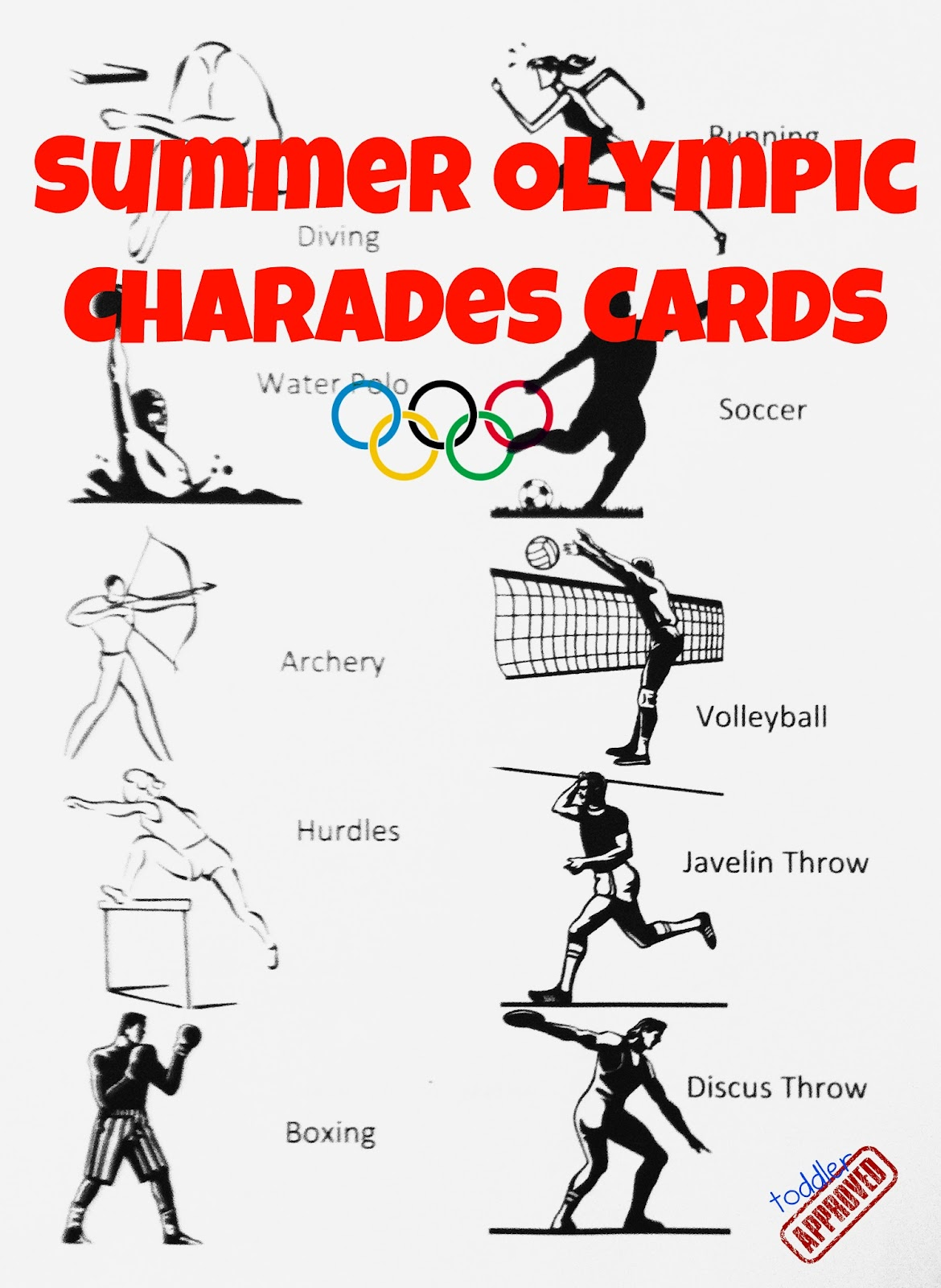 Toddler Approved Summer Olympic Charades