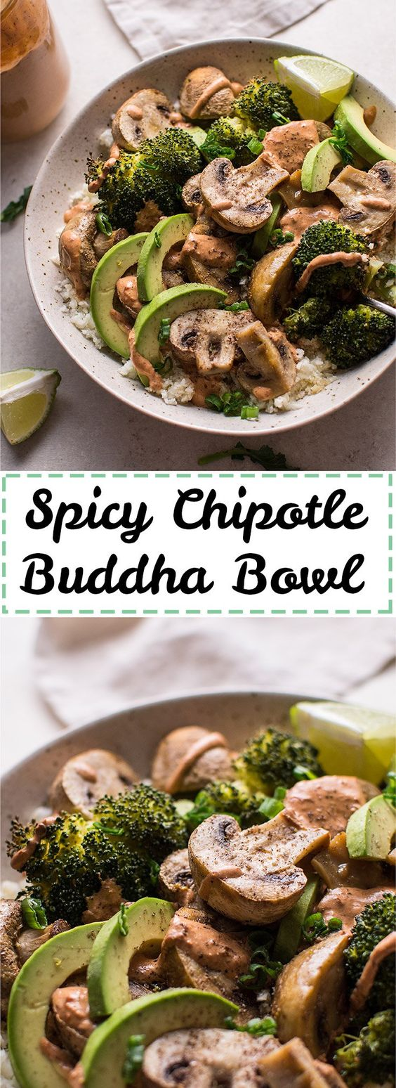 Spicy Chipotle Buddha Bowl with Cauliflower Rice