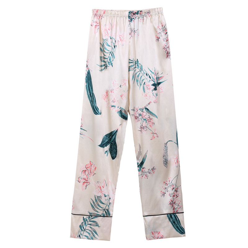 Bộ Pijama ngủ 7 chi tiết bằng lụa mặc nhà dễ thương 16