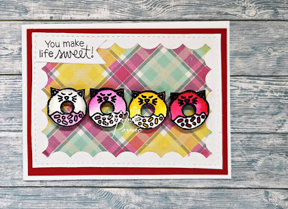 You make life sweet by Fikreta features Cat Treats by Newton's Nook Designs; #inkypaws, #cardmaking, #newtonsnook