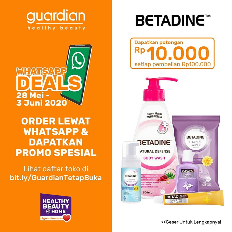 Promo Guardian WhatsApp Deals Via WA Periode Juni 2020