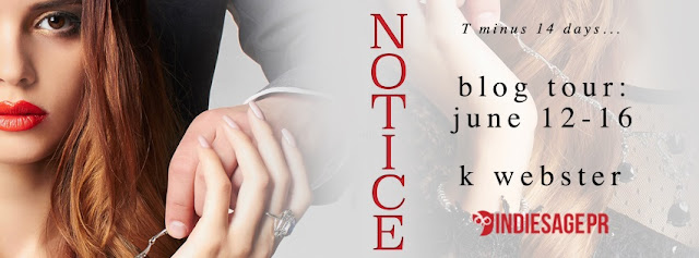 [Blog Tour] NOTICE by K Webster @KristiWebster @IndieSagePR #Playlist #Giveaway #UBReview