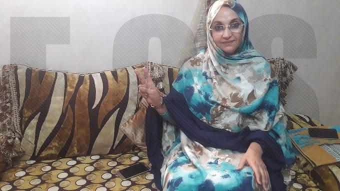 La activista Saharaui Aminetu Haidar sufre una brutal agresión por parte de las fuerzas de ocupación marroquíes