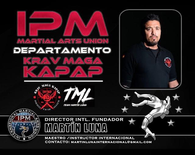 Nombramiento del Maestro Internacional D. MARTÍN LUNA como Director Nacional e Internacional del Departamento de KRAV MAGA KAPAP de IPM
