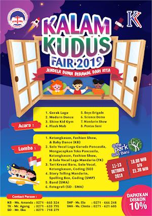 """Kalam Kudus Fair 2019, """"Jendela Dunia Berawal Dari Kita"""""""