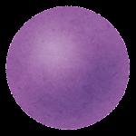 玉・ボールのイラスト(紫)
