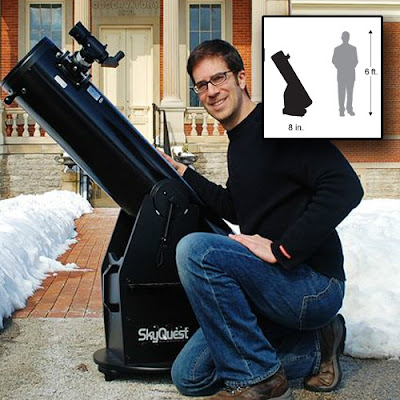 Orion 8945 SkyQuest XT8 Telescope is extremely portable. Image by Orion Telescopes.