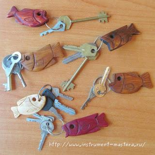 брелочки для ключей из дерева