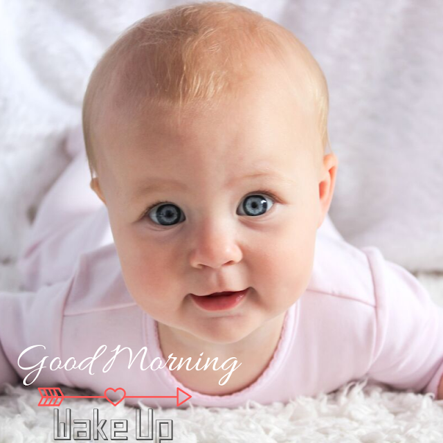 Good Morning Images With  Pleased Baby