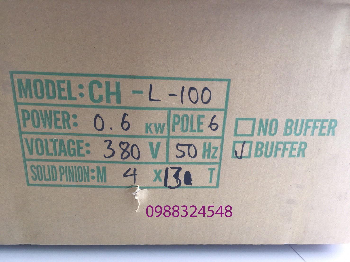 Motor dầm biên ITS CH-L-100