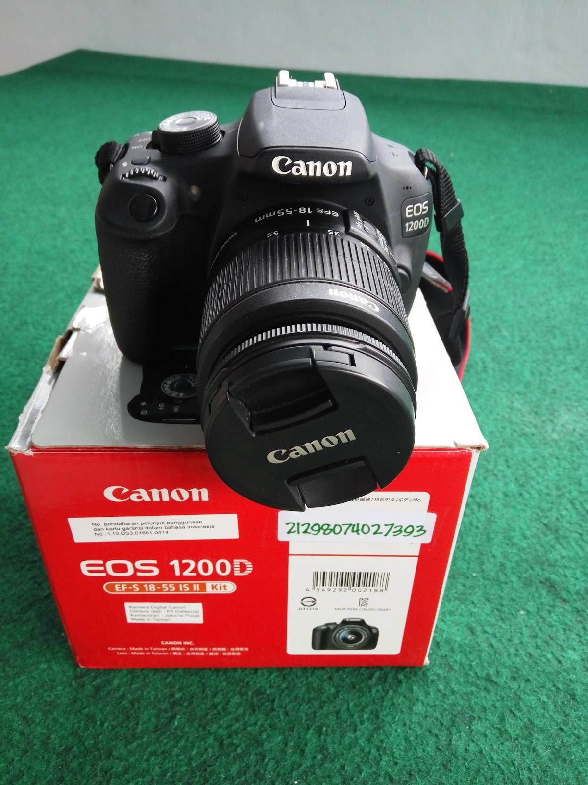 Harga Kamera Dslr Canon Eos 1200d Bekas Lensa 18 55mm Kit Jual Unyu Fulset