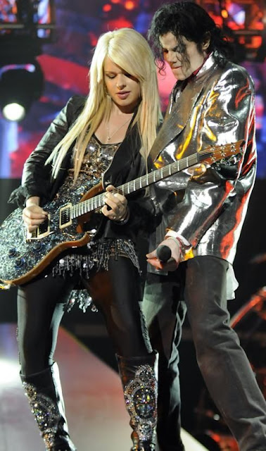 Michael Jackson guitarist Orianthi. PunkMetalRap.com
