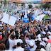 Leonel y Abinader llegan al Parque Independencia en marcha opositora por la democracia