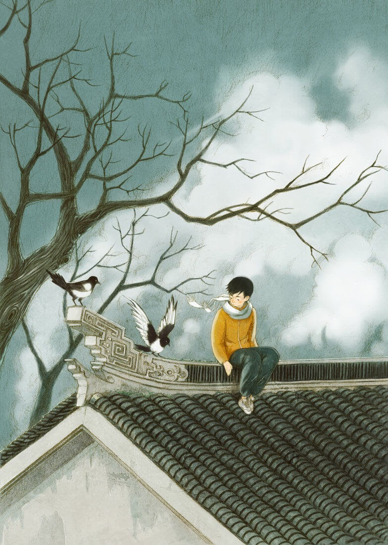 11-A-time-to-Reflect-Xingye-Jin-Surrealism-and-Imaginative-Illustrations-www-designstack-co