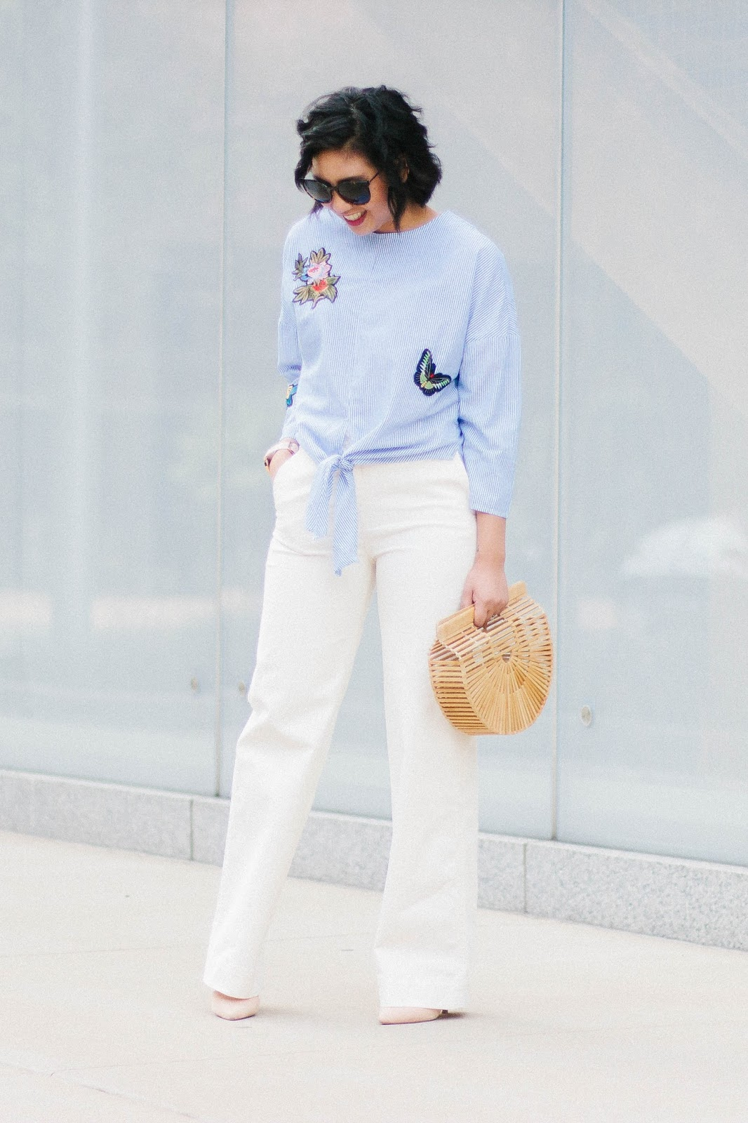 Why the tie-front top is the best top to wear this fall
