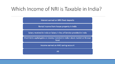 Does Global income of NRI is taxable in India? Which are?