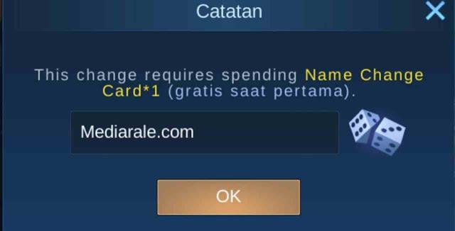 Cara mengganti nama ml, cara mengganti nickname ml