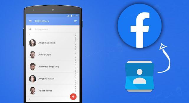 طريقة استعادة جهات الاتصال المفقودة عن طريق فيس بوك