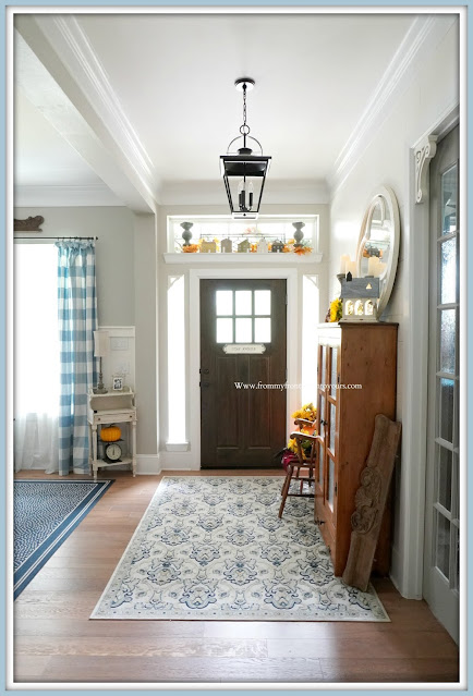Farmhouse Cottage Style Fall Foyer- From My Front Porch To Yours