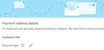 Setting Pembayaran AdSense