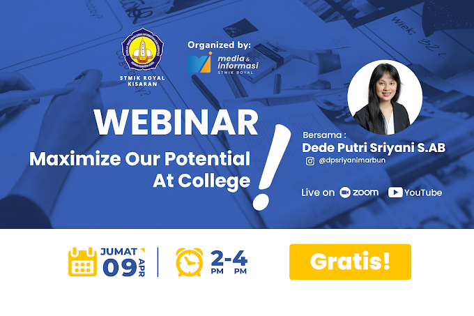 """Webinar """"Maximize Our Potential At College!"""""""