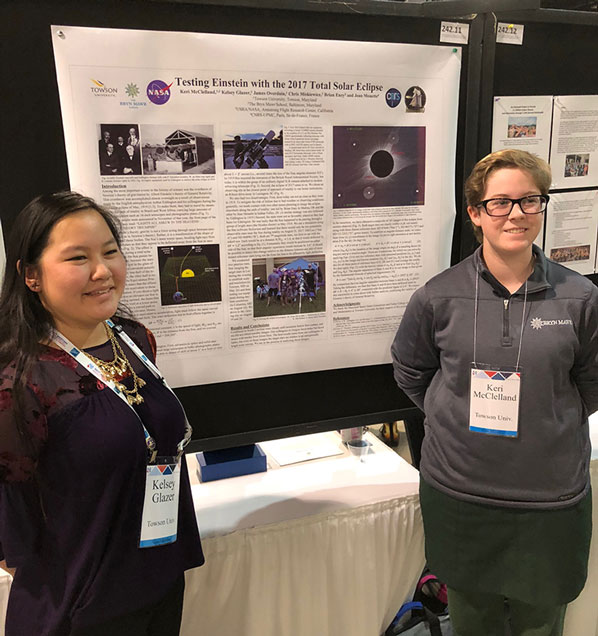 AAS 231 Poster on Eclipse Testing Einstein (Courtesy: Keri McClelland and Kelsey Glazer,  Towson University)