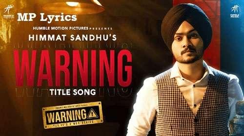 Warning Lyrics Himmat Sandhu