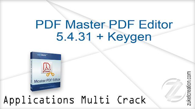 PDF Master PDF Editor 5.4.31 + Keygen     |  43 MB