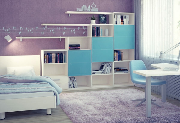 DORMITORIO PARA ADOLESCENTE COLOR LILA