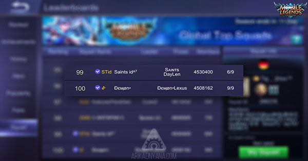 4 Cara Agar Squad di Mobile Legends Verified atau Centang